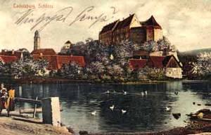 Die um 1200 von den Grafen von Abenberg an die Hohenzollern gefallene Cadolzburg war lange Zeit die wichtigste Residenz der Burggrafen von Nürnberg. Ansichtskarte gelaufen 1904