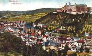 Kulmbach und die Plassenburg waren nach dem Ausstreben der Andechs-Meranier 1248 an die Thüringer grafen von Orlamünde gefallen und gingen 1340 aus dem Erbe der Fränkischen Orlamünder an die Burggrafen von Nürnberg über. Historische Ansichtskarte 1910