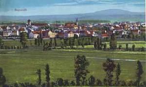 Bayreuth fiel 1248 nach dem Aussterben der Andechs-Meranier an die Burggrafen von Nürnberg. Ansichtskarte um 1910.