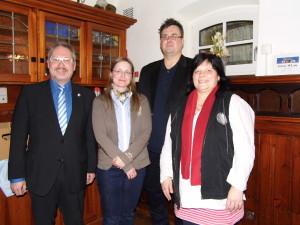 Peter Weith, Jennifer Grafunder und Holger Peilnsteiner bilden nun das Vorstandstrio der Freunde der Plassenburg, das von der neuen Schriftführerin Andrea Senf unterstützt wird (von links).
